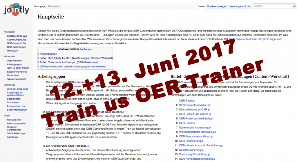 """Screenshot OER-Contentbuffet MediaWiki"" JOINTLY Redaktion unter CC-BY 4.0"