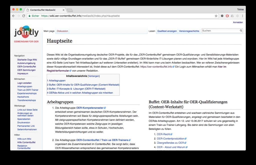 Ansicht Contentbuffet MediaWiki, CC-0