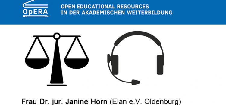 Webinar: Rechtliche Aspekte bei Verwendung und Erstellung von OER
