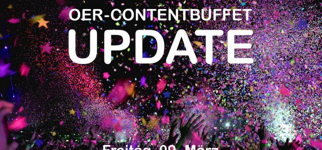 Update des OER-Contentbuffets am Freitag (9. März) – ab Mittag