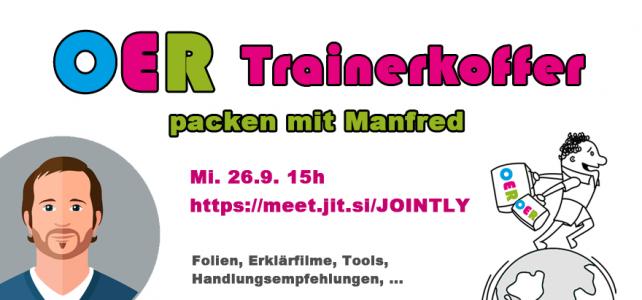Mitmachen: Am 26.9. wird der OER-Trainerkoffer in einem offenen Redaktionstreffen gepackt