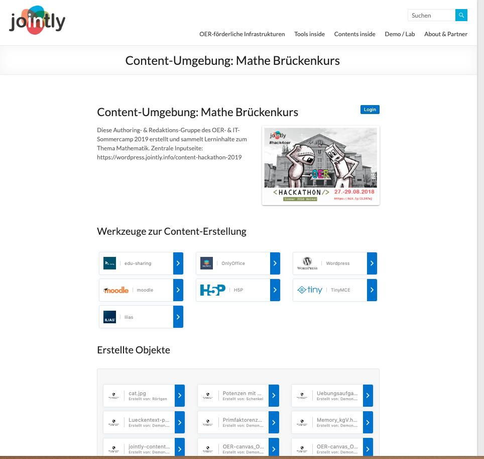 Eine Dartsellung der kollaborativen Arbeitsumgebung auf WordPress-Basis