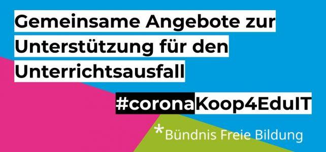 Mitmachen! Unterstützung für Lehrkräfte #coronaKoop4EduIT